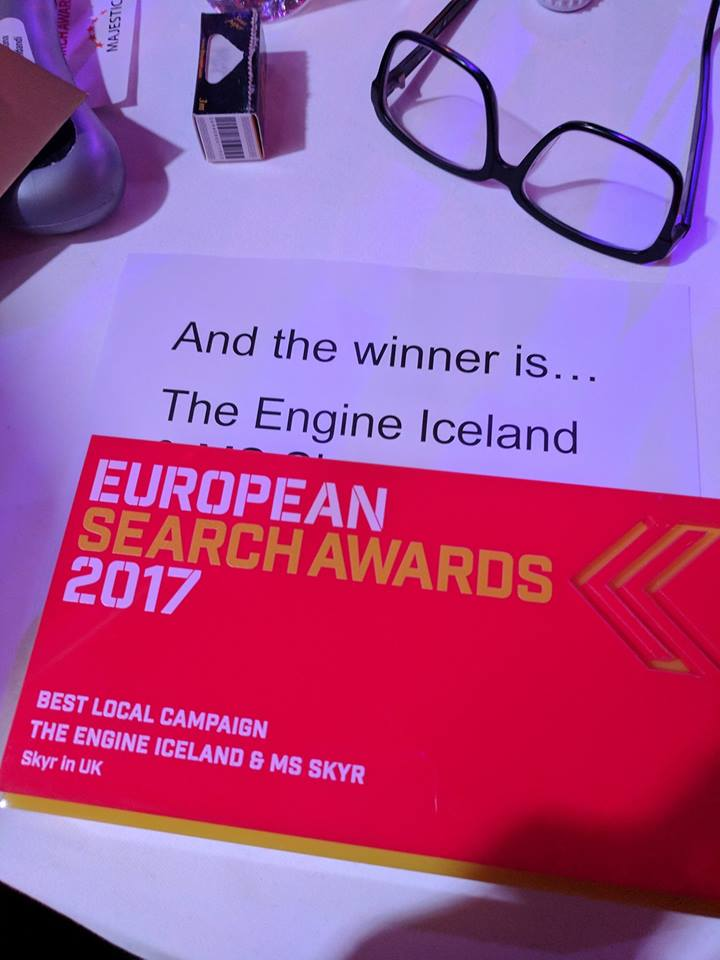 european search awards winner - the engine